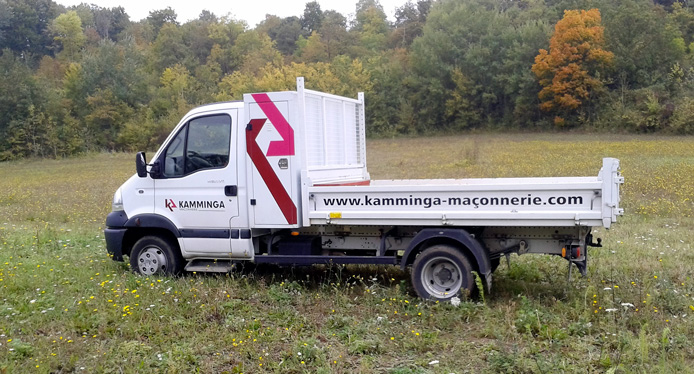 camion de l'entreprise kamminga