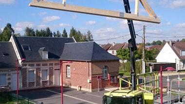 Construction d'un bâtiment de stockage