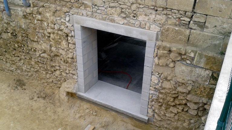 Création d'une ouverture pour porte fenêtre